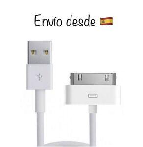 Cable-Cargador-iPhone-3-3Gs-4-4s-iPad-2-3-4-Original-con-Caja-30-Pin