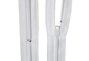 Bettwäsche Reißverschluss 1 Weg  weiß  Länge von 30-200 cm Wäscheschieber