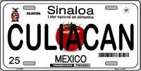 Culiacan Sinaloa Mexico Novelty Metal License Plate