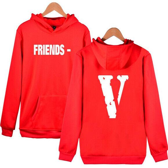 VLONE FRIENDS Big V Graphic Print Men/'s Hoody Long Sleeves Hoodie Sweatshirt
