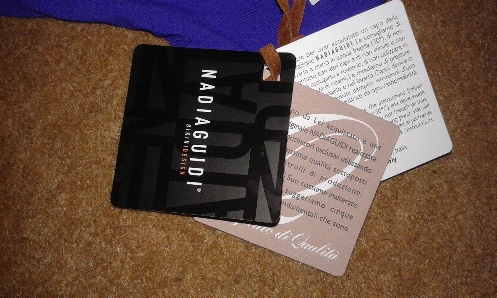NADIA Guidi Bikini Design Viola Teal swimset     MEDIUM RRP .00 e55984