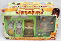 Sylvanian Families Bunny Rabbits Ternurines Garden Set Rare Mexican Packaging