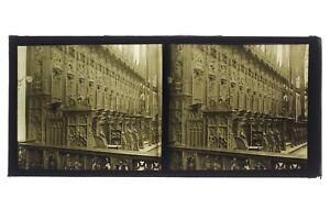 Interno Un Cattedrale Foto Placca B Lente Stereo Positivo Vintage 6x13 CM