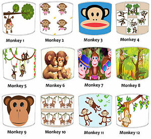 Pour-Enfants-Singe-Abat-Jour-Ideal-Correspond-a-Couettes-amp-Autocollants-Murales