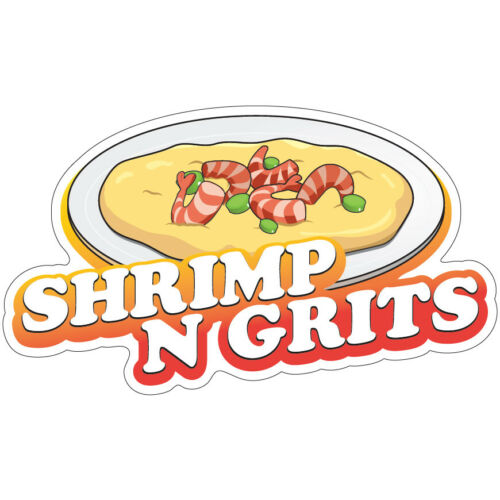 Shrimp N Grits Decal Concession Stand Food Truck Sticker