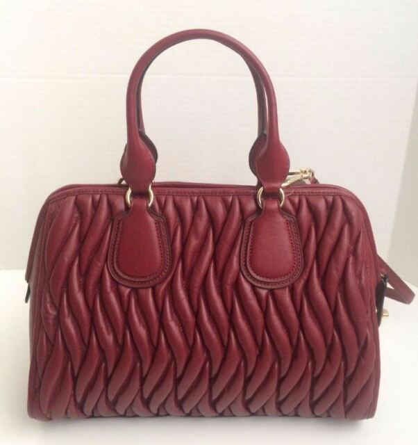 13a68b780bab Coach F33533 Gathered Leather Large Nolita Satchel Bag Li/bcy (dark Red)