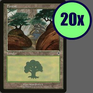 20x Invasion FOREST #349 Same Art Basic Land NM/LP/MP MTG Magic the Gathering