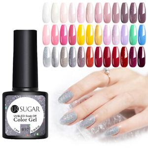UR-SUGAR-7-5ml-Gel-Varnishes-Nail-Polish-Soak-Off-UV-Gel-Led-Lamp-Top-Base-Coat
