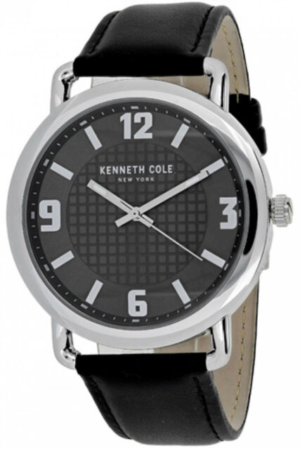 931175b40f4 Kenneth Cole 10017167 Classic Black Dial Leather Strap Men s Watch ...