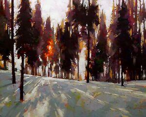David-Mensing-American-Impressionist-Original-Oil-Painting-039-Linger-039-24x30