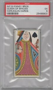 1888-N219-Kinney-Bros-Harlequin-Cards-Queen-of-Spades-Graded-PSA-5
