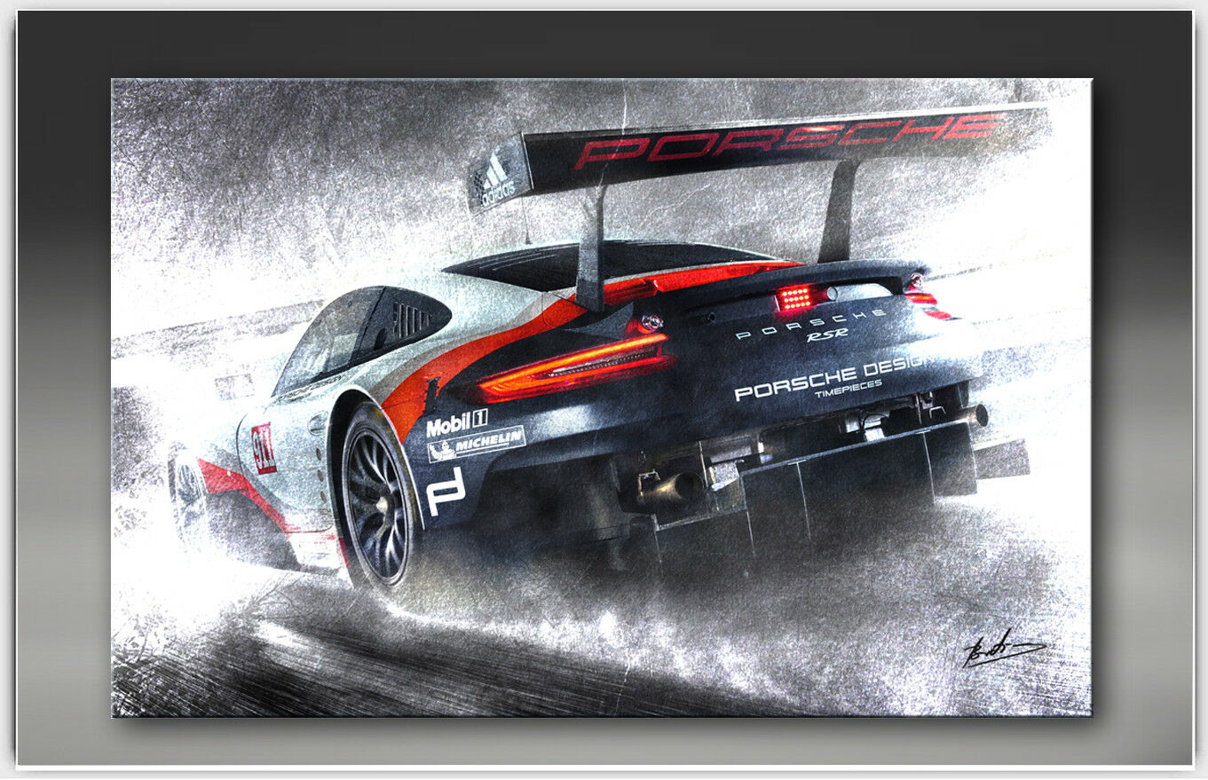 Porsche 911 rsr coche auto deportivo imágenes sobre lienzo lienzo sobre de muro imágenes XXL 1854a 4349c6