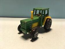 Diecast Majorette Tracteur No. 208 1/65 Green/Yellow Wear & Tear Good Condition