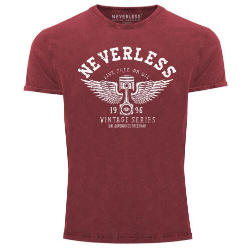 Cool Redbridge T-Shirt Hommes Vintage Shirt Retro voiture piston aspect Use Slim