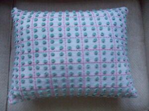 Handmade Pillow Case from Vintage HTF Blue Fieldcrest Chenille Bedspread 12x16