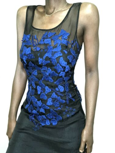 Cynthia Rowley Silk Organza Black Sheer Black Slip