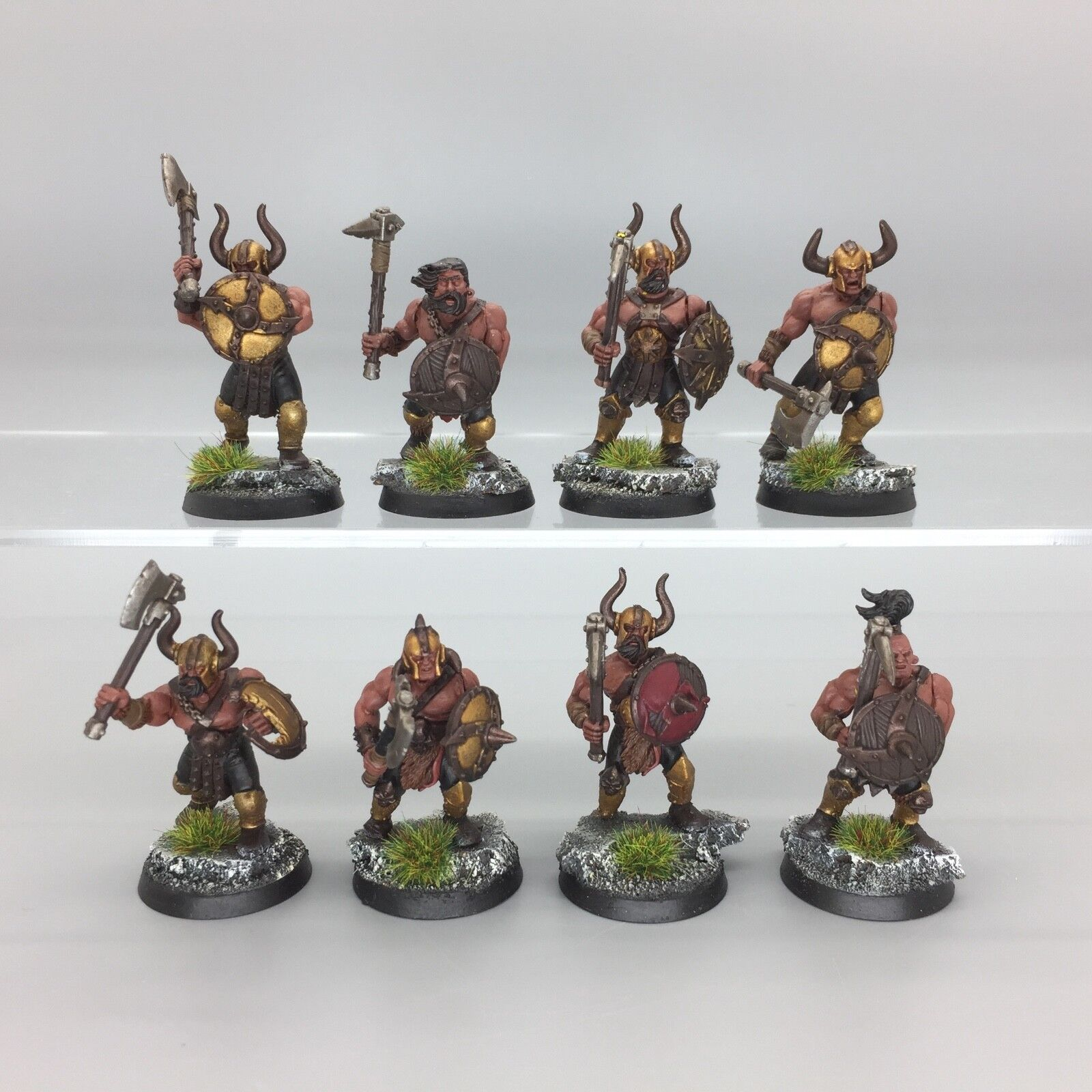 WARHAMMER AGE OF SIGMAR WARRIORS OF CHAOS MARAUDERS UNIT REGIMENT PAINTED