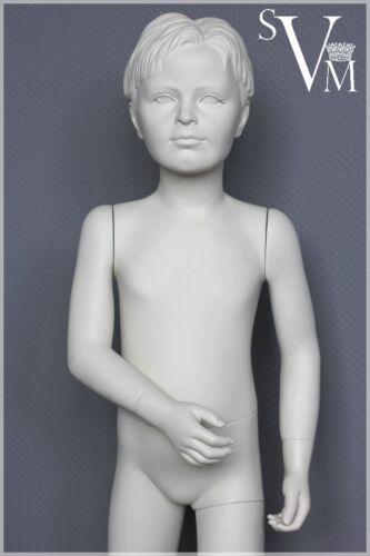 11 IDW Schaufensterpuppe 104 cm Weiß Schaufensterfigur Kind Mannequin Junge