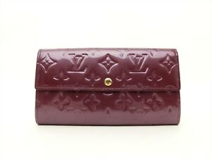 3fb1db306b12 Image is loading Louis-Vuitton-Authentic-Monogram-VERNIS-Violette -Clutch-Bifold-