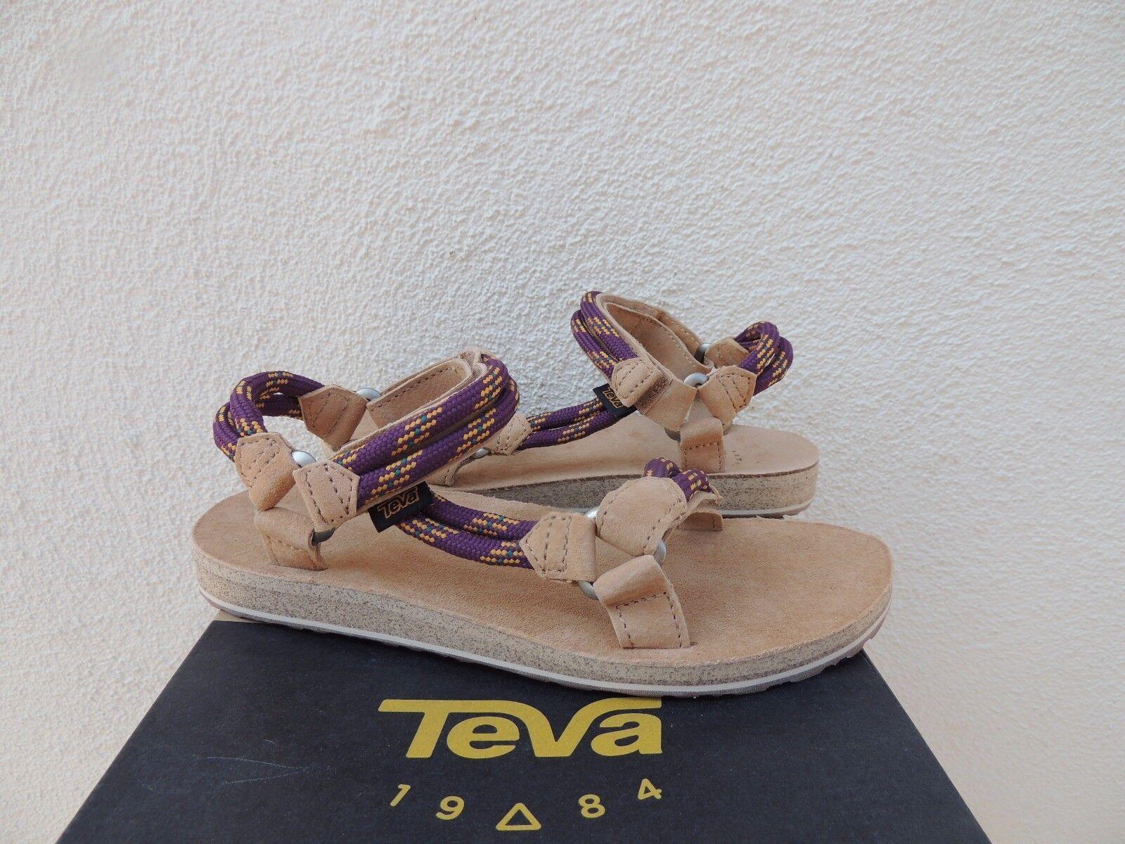 Teva Original Universal Universal Universal Púrpura Oscuro de Cuerda con Tiras Sandalias De Gamuza, EE. UU. 7 38 euros Nuevo En Caja 9b435b