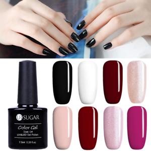 7-5ml-Nail-Art-Soak-Off-UV-Gel-Polish-Black-White-Varnish-UR-SUGAR