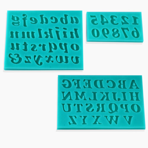 3D Silikonform Alphabet Form Gußform Fondant Fondatform Mould Tortendekoration