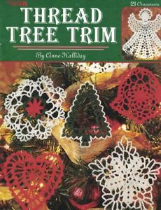 Crochet-Thread-Tree-Trim-Leisure-Arts-2836-21-Ornaments-by-Anne-Halliday-1996