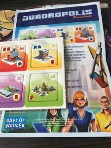 Brettspiel adventskalender 2016 promo #15 quadropolis