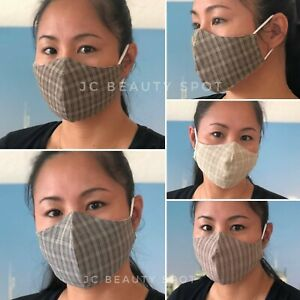 Multi Layer Fashion Face Mask 100 Cotton Washable With Filter Pocket Ebay