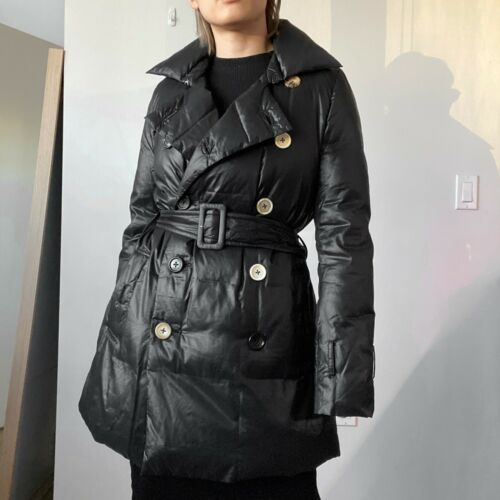 OHYA Double Breasted Puffer Trench Coat Japanese D