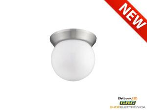 Plafoniera A Led 4000k : Plafoniera globo 10 led tonda 4000k bianca soffitto ip20 palla