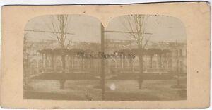 Francia Parigi Kiosque A Musica Foto Stereo Vintage Albumina Ca 1860