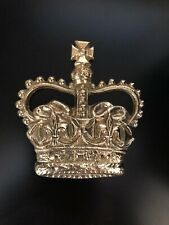 BRASS ROYAL CROWN CAST OF ST EDWARD'S CROWN OFF A K6 TELEPHONE BOOTH, KIOSK