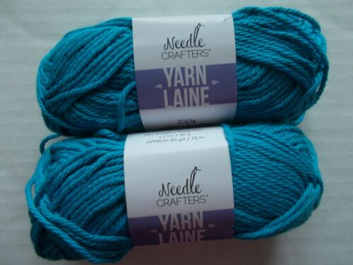 Ocean Breeze Needle Crafters 100/% cotton yarn lot of 2 80 yds each