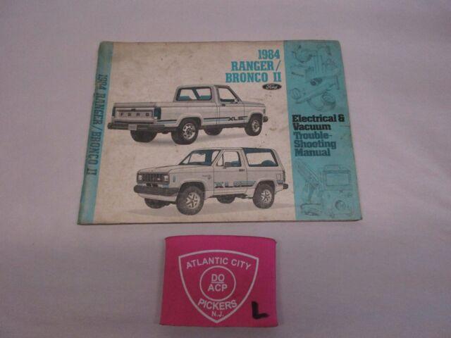 1984 FORD RANGER BRONCO II ELECTRICAL VACUUM WIRING ...