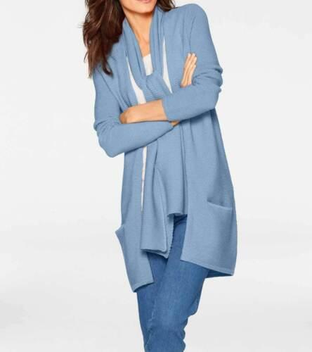 patrizia Dini azul verdoso talla 38 lana merino-Cardigan m A028.980# nuevo bufanda