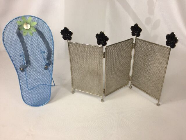Claire S Jewelry Earring Holders Set Of 2 Flip Flop And Sequin