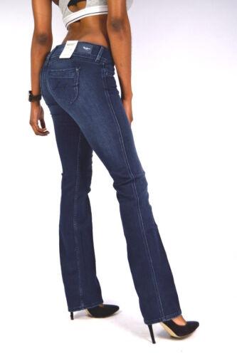PEPE Jeans GRACE wash CA3 Bootcut Jeans Dunkelblau Stretch Weiten 24//25//27//28