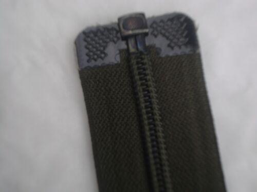 46cm nylon coil open ended zip dark army green