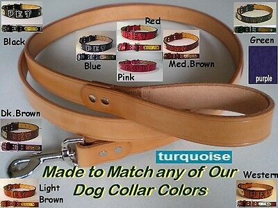 2 Foot Leather Dog Leash Made in the same style and color choice of our collars