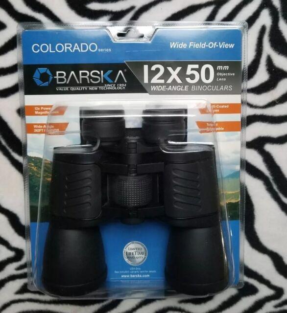 Brand New Pair of Barska Colorado 12x50mm Wide-Angle Binoculars Model CP12753