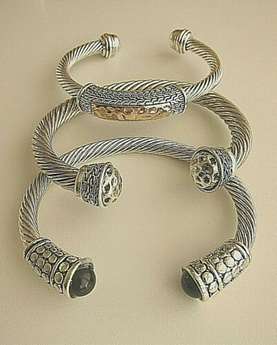 Chunky Twisted or ID Silver Filled Bangle \Bracelet Men/'s \ Unisex.