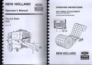 Details about New Holland 835 Round Baler Twine Operators Manual + Net Wrap  Attachment Inst