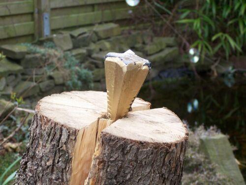 Spaltgranate Spaltkeil 1,6 kg Holzspalter Holzspaltkeil Gold Holz Spaltkreuz NEU