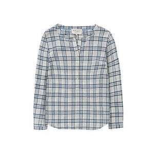 16 rrp 99 Quba White amp; Shannon sizes 12 £59 Shirt Sails Blue Check Ladies wgnA61