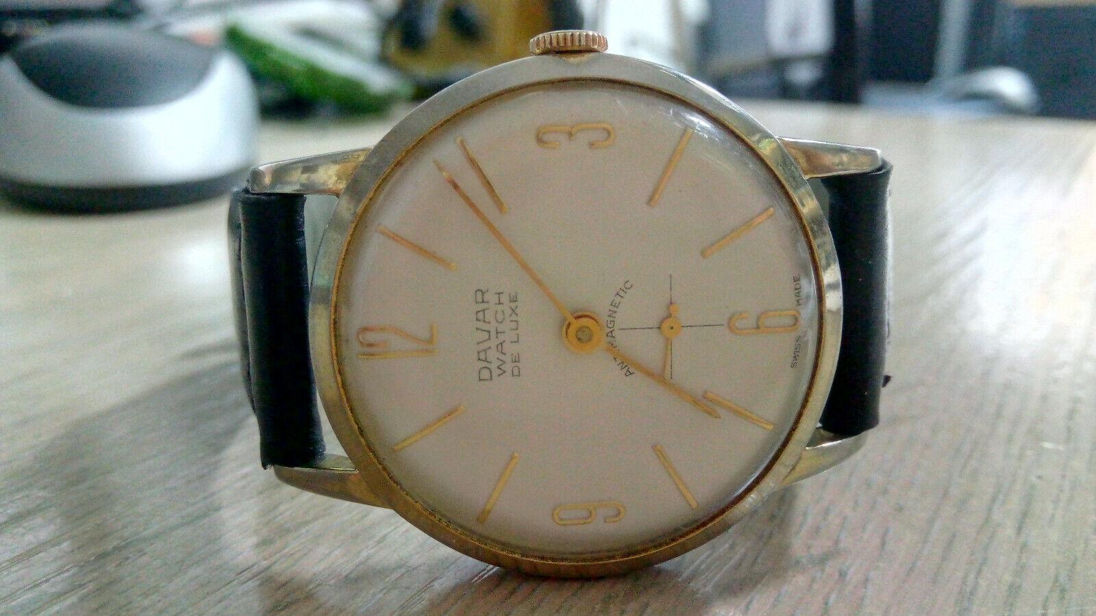 Davar De Luxe – vintage men's wristwatch – 1960s.… - image 2