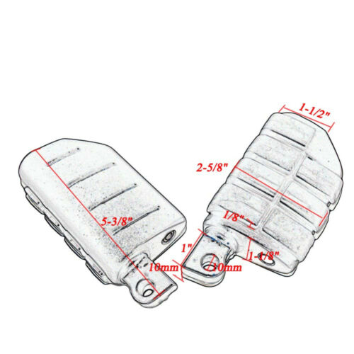 """Black 1.5/"""" Engine Guard Crash Highway Bar Adjustable Foot Peg Mount For Harley"""