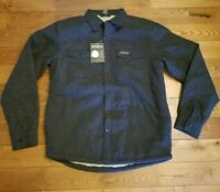 Mens Field & Stream Grey Sherpa-lined Flannel Shirt Jacket Size S $100