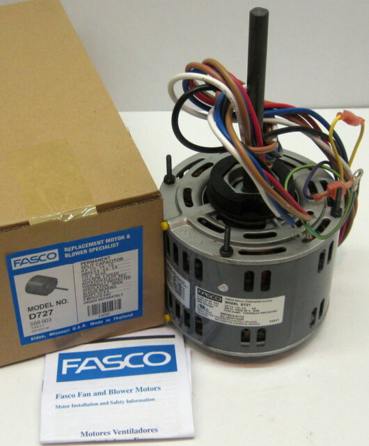 D727 Fasco 1/3 HP 1075 rpm 115 v 3 Sd Furnace Blower Fan Motor on