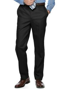 New-Mens-Black-Croft-amp-Barrow-Easy-Care-Stretch-Casual-Pants-44x30-w-Tags-MSRP-48